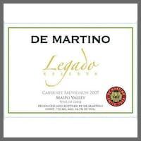 De Martino 'Legado' Reserva Cabernet Sauvignon 2018