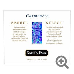 Santa Ema 'Barrel Select' Carmenere 2008