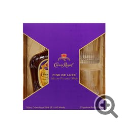 Crown Royal 750ml w/2Glass
