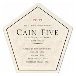 Cain Vineyards 'Cain Five' 2007 image