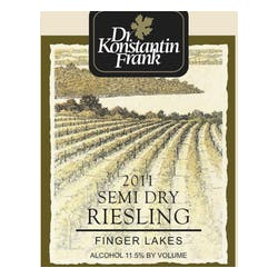 Dr. Frank 'Semi Dry' Riesling 2013 image