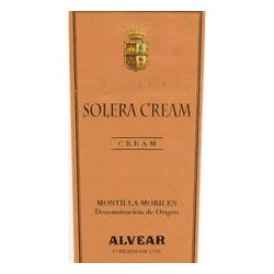 Alvear Solera Cream Sherry NV 500ml image