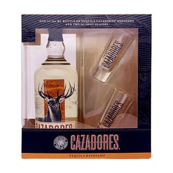 Cazadores Reposado 750ml with Shot Glasses