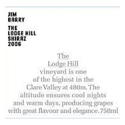 Jim Barry 'The Lodge Hill' Shiraz 2010 image