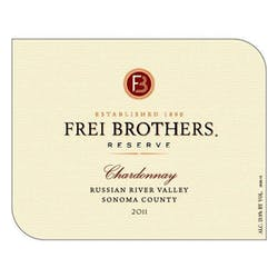 Frei Brothers 'Reserve' Chardonnay 2011 image