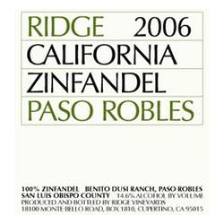 Ridge Vineyards 'Paso Robles' Zinfandel 2009 image