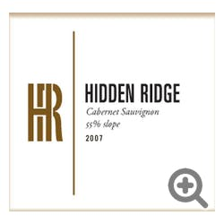 Hidden Ridge '55% Slope' Cabernet Sauvignon 2008