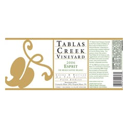 Tablas Creek 'Esprit Blanc' White Blend 2010 image