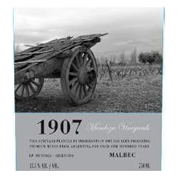 Mendoza Vineyards '1907' Malbec 2011 image