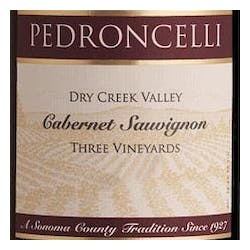 Pedroncelli 'Three Vineyards' Cabernet Sauvignon 2010 image