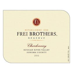 Frei Brothers 'Reserve' Chardonnay 2012 image