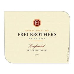 Frei Brothers Reserve Zinfandel 2012 image