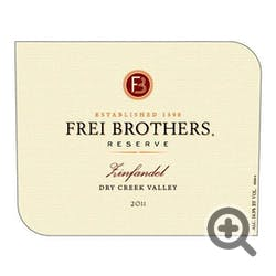 Frei Brothers Reserve Zinfandel 2012