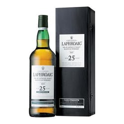 Laphroaig 25yr Cask Strength Islay 97.2proof image