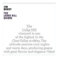 Jim Barry The Lodge Hill Shiraz 2012 image