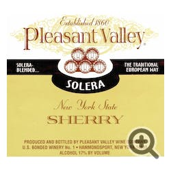 Pleasant Valley Wine Company 'Solera' Sherry