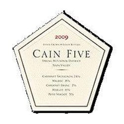 Cain Vineyards 'Cain Five' 2009 image