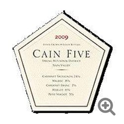 Cain Vineyards 'Cain Five' 2009