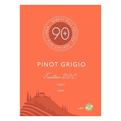 90+ Ninety + Cellars 'Lot 42' Pinot Grigio 2018 image