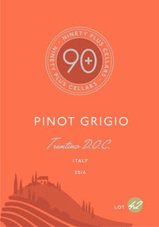 90+ Ninety + Cellars 'Lot 42' Pinot Grigio 2017