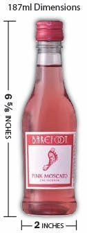 Barefoot Winery Pink Moscato 187ml