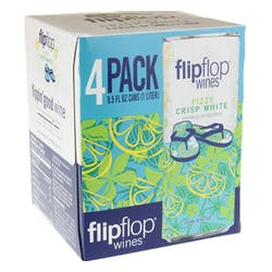 Flipflop Wines Fizzy Crisp White 4-250ml Cans image