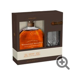 Woodford Reserve w/1 Glass GIFT Set Bourbon 750ml