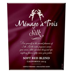 Menage a Trois 'Silk' Soft Red Blend 2015 image