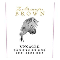 Z. Alexander Brown 'Uncaged' Red Blend 2013 image