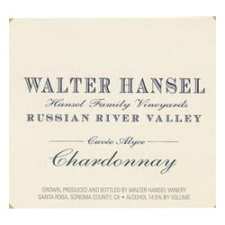 Walter Hansel 'Cuvée Alyce' Chardonnay 2013 image