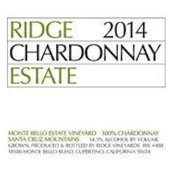 Ridge Vineyards 'Estate' Chardonnay 2014 image