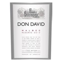 Michel Torino 'Don David' Malbec Reserve 2013 image