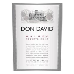 Michel Torino 'Don David' Malbec Reserve 2014 image