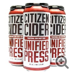 Citizen Cider 'Unified Press' Hard Cider 4-16oz Cans