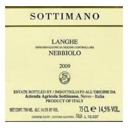 Sottimano 'Basarin Langhe' Nebbiolo 2014 image