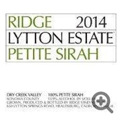 Ridge Lytton Springs Petite Sirah 2014