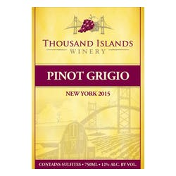 Thousand Islands Winery Pinot Grigio 2015 image