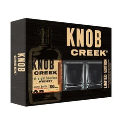 Knob Creek Bourbon 100prf 750ml w/2 Glass image