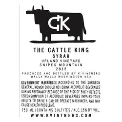 K Vintners 'Cattle King' Syrah 2013 image