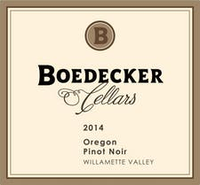 Boedecker Cellars Pinot Noir 2014