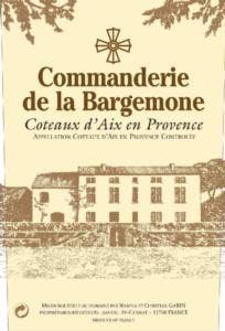 Commanderie de la Bargemone Rose 2016