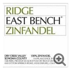 Ridge Vineyards 'East Bench' Zinfandel 2015