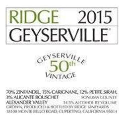Ridge Vineyards 'Geyserville' Zinfandel 2015 image