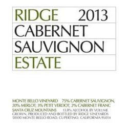 Ridge Vineyards 'Estate' Cabernet Sauvignon 2014 image