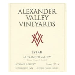 Alexander Valley Vineyards 'Estate' Syrah 2014 image