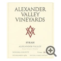 Alexander Valley Vineyards 'Estate' Syrah 2014