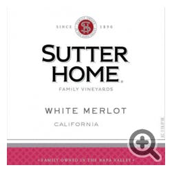 Sutter Home White Merlot 750ml