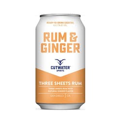 Cutwater Spirits Rum & Ginger Cans