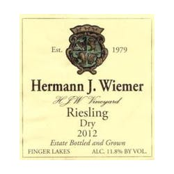 Hermann Wiemer 'HJW Vineyard' Riesling 2015