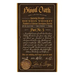 Blood Oath 'Pact No.3' 98.6Prf Limited Release Bourbon 750ml image